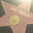 Walk of Fame Bing Crosby and Roseanne - Stock Photo