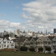 Stock Video: SFrancisco Painted Ladies
