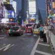 Stock Video: Times Square Sunset