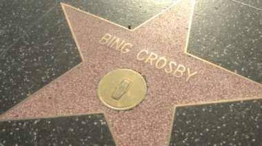 Walk of Fame Bing Crosby and Roseanne — Stock Video