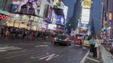 Coucher de soleil de times square — Vidéo