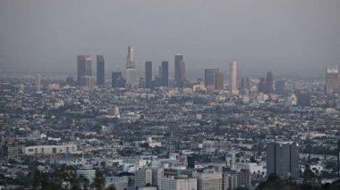 Los Angeles Skyline Sunset — Stock Video