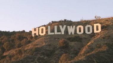 Hollywood-skylten — Stockvideo