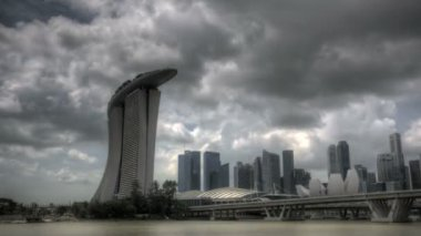 Singapore marina bay ingången — Stockvideo
