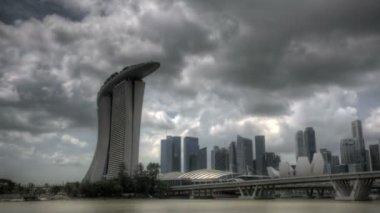 Singapur marina defne giriş — Stok video