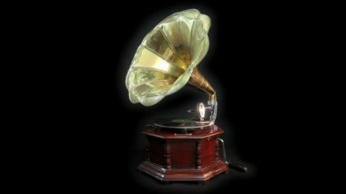 Vintage Gramophone — Stock Video