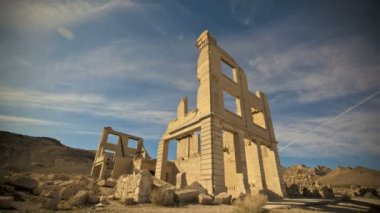 Rhyolite Ghost Town Timelapse — Stock Video