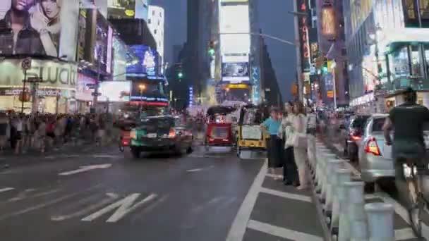 Atardecer de times square — Vídeo de stock