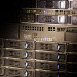 Server rack with stripe light — Stock Photo