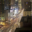 Stock Video: Traffic at night on 8th Ave