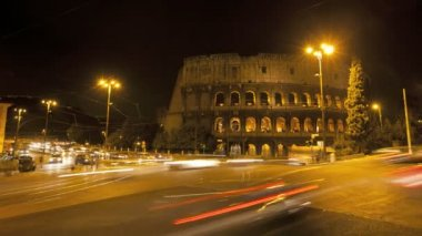 Colosseum in Rome at night — Stock Video #22623715
