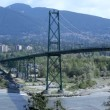 Stock Video: Lions Gate Bridge