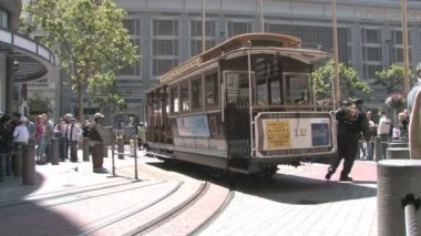 Powell and Market cable car — Stock Video