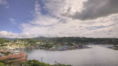 St Georges Bay in Grenada — Stock Video