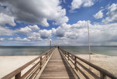 Wooden pier over the Baltic Sea — Stock Photo