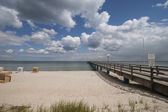 Wooden pier over the Baltic Sea — 图库照片