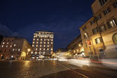 Hotel Bernini in Rome at night — Stock Photo
