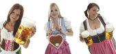 Oktoberfest waitresses — Stock Photo
