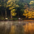 Beautiful lake with autumn forest — Stock Photo
