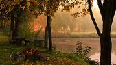 Krásné podzimní vtipu sedlčany — Stock fotografie