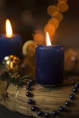 Beautiful advent candle — Stock Photo