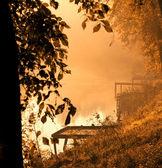 Bellissimo lago tramonto — Foto Stock