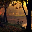 Landscape with lake and autumn forest. — Stock Photo #24780001