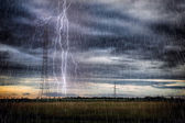 Storm with lightnings — Stock Photo