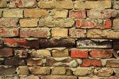 旧砖墙壁纹理 — 图库照片