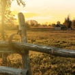 Stock Photo: Farm in sunset