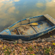 Old vintage fishing boat — Stock Photo