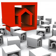 A lot of real estate cubes - Stock Photo
