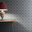 Vintage lamp on tiles background — Stock Photo