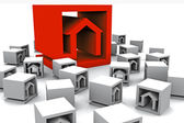 A lot of real estate cubes — Stock Photo
