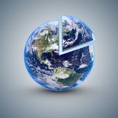Earth 80 percent — Stock Photo