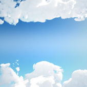 Cloud texture with clear sky — Stockfoto