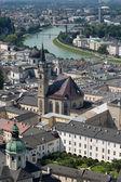 Vista de Salzburgo en verano — Foto de Stock
