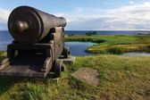 Old cannon in Kalmar castle — Stock fotografie
