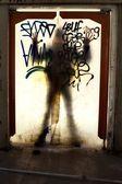 Scary shadow — Stock Photo