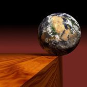 Precarious earth — Stock Photo