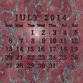 Kamenný kalendář 2014 — Stock fotografie
