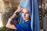 Woman wearing eastern clothes — Stock Photo