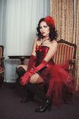 Mulher na cadeira — Fotografia Stock
