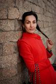 Женщина в красном — Стоковое фото