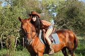 Horsewoman — Stock Photo