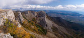 Crimean Mountains in the fall — Stock Photo