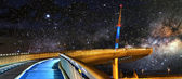 Pescara's bridge On the stars — Foto de Stock