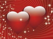 Red hearts — Foto Stock