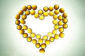 Amber heart — Stock Photo