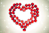 Garnet heart — Stock Photo